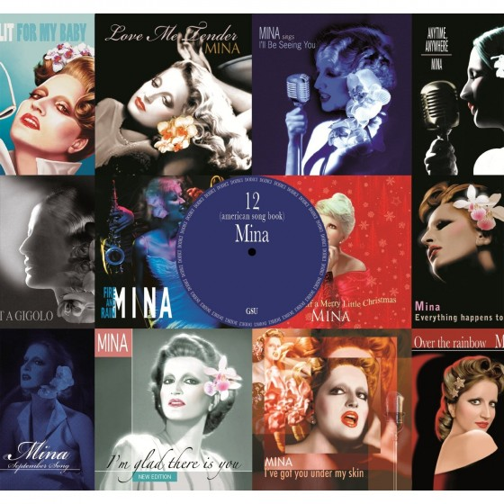 Mina 12 american songbook copertina disco artwork